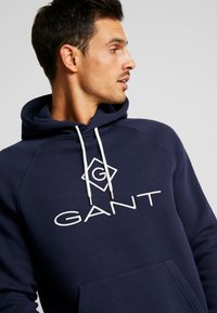 GANT - LOCK UP HOODIE - Sweat à capuche - evening blue - 5