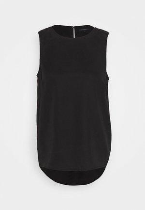 SLEEVELESS CREW NECK - Camicetta - black