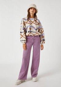 PULL&BEAR - Fleece jumper - white - 1