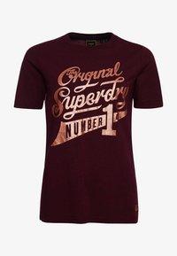 Superdry - GLITTER SPARKLE - Print T-shirt - boston burgundy grit - 3