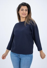 CLOSED - LONG SLEEVED STRUCTURED JERSEY  - Blouse - blue - 0