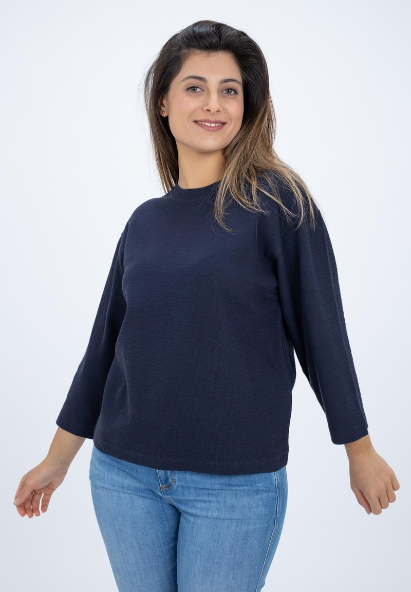 CLOSED - LONG SLEEVED STRUCTURED JERSEY  - Blouse - blue
