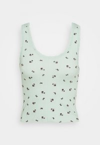 BDG Urban Outfitters - DITSY POINTELLE TANK - Topper - green multi - 0