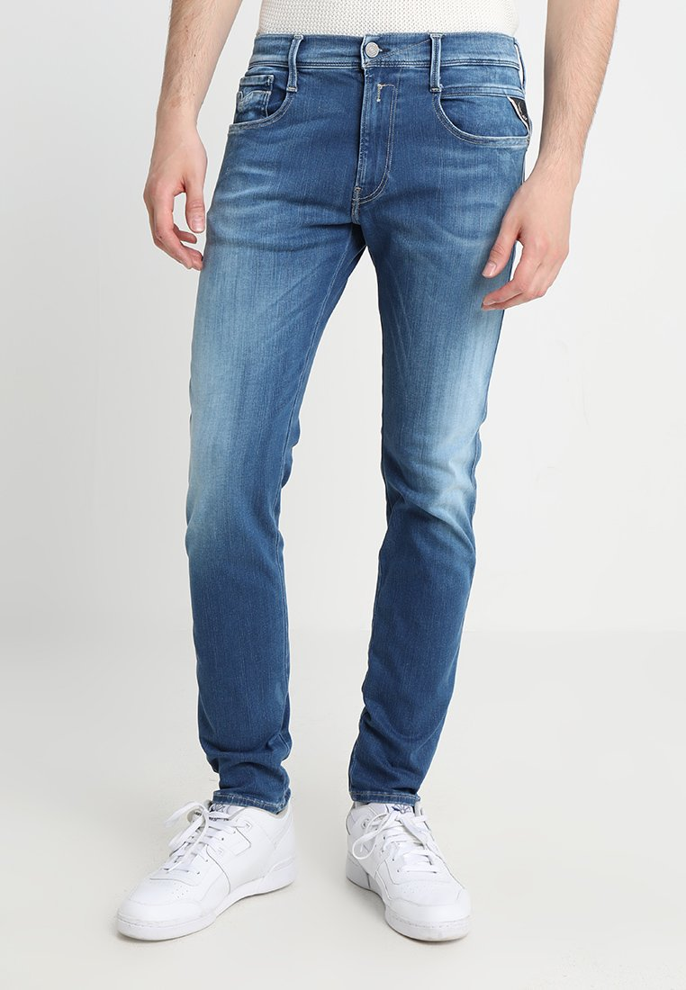 Replay - HYPERFLEX ANBASS - Slim fit jeans - dark blue denim