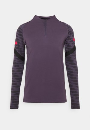 STRIKE 21 - Sports shirt - dark raisin/black/siren red