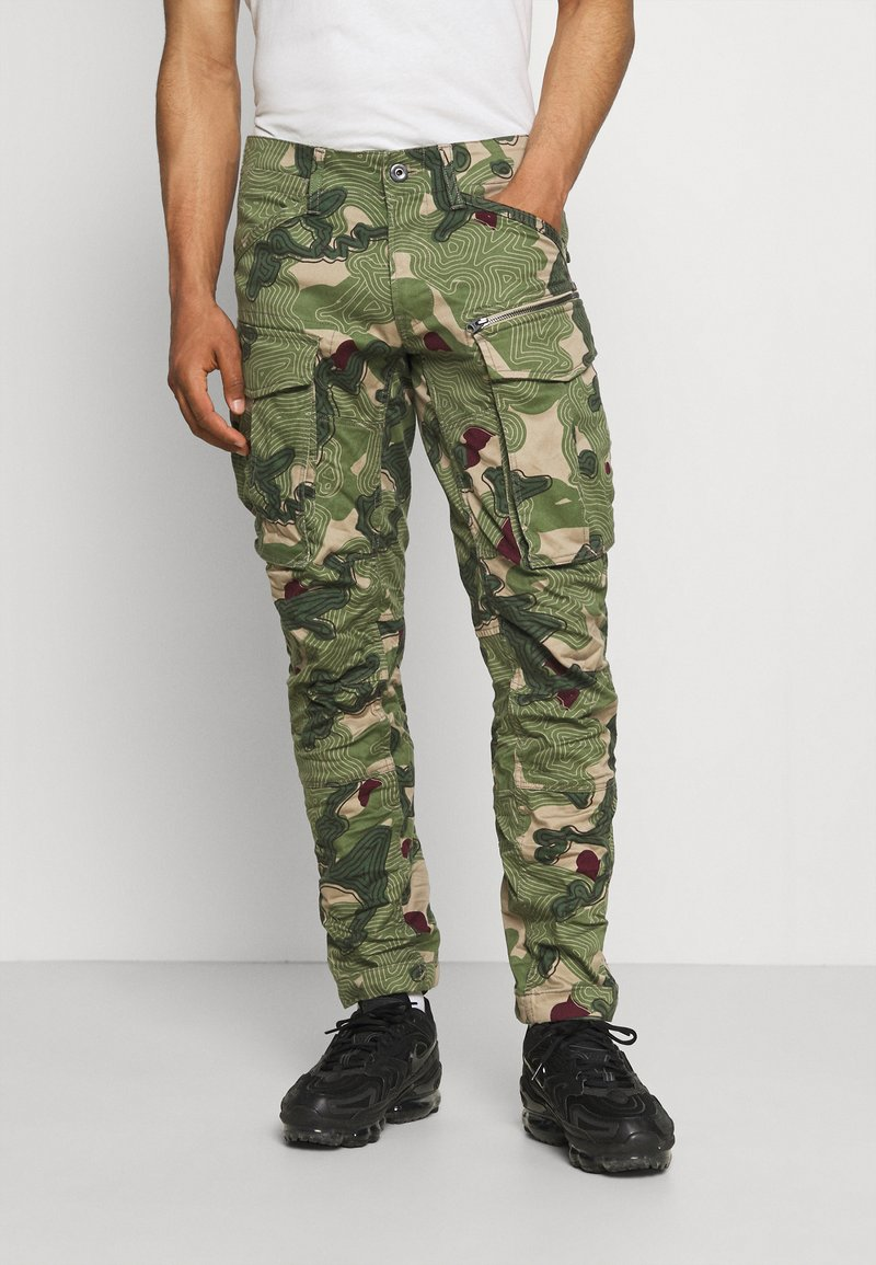 G-Star - ROVIC ZIP 3D STRAIGHT TAPERED - Cargo trousers - olive