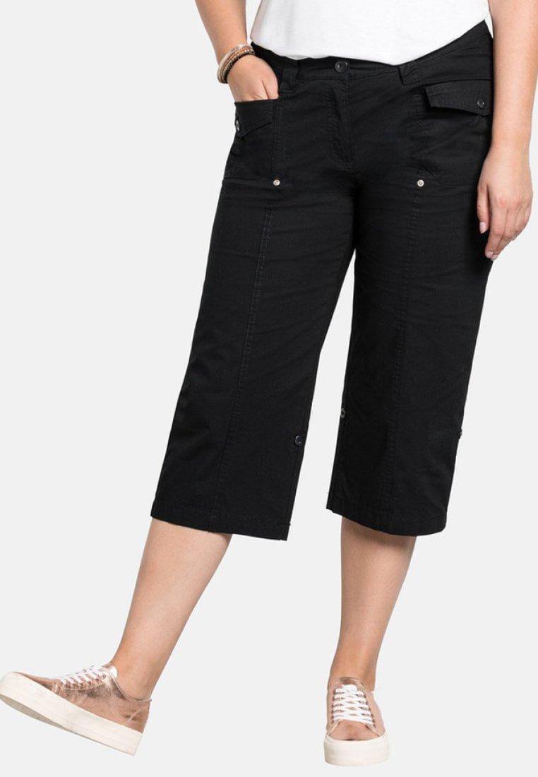 Sheego - Shorts - black