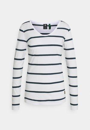 CORE EYBEN SLIM - Long sleeved top - milk/vintage navy stripe
