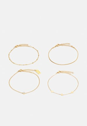 4 PACK - Bransoletka - gold-coloured