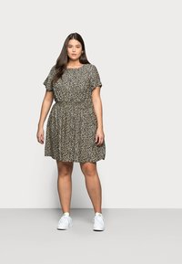 New Look Curves - FLO ANIMAL DRESS - Day dress - black - 0