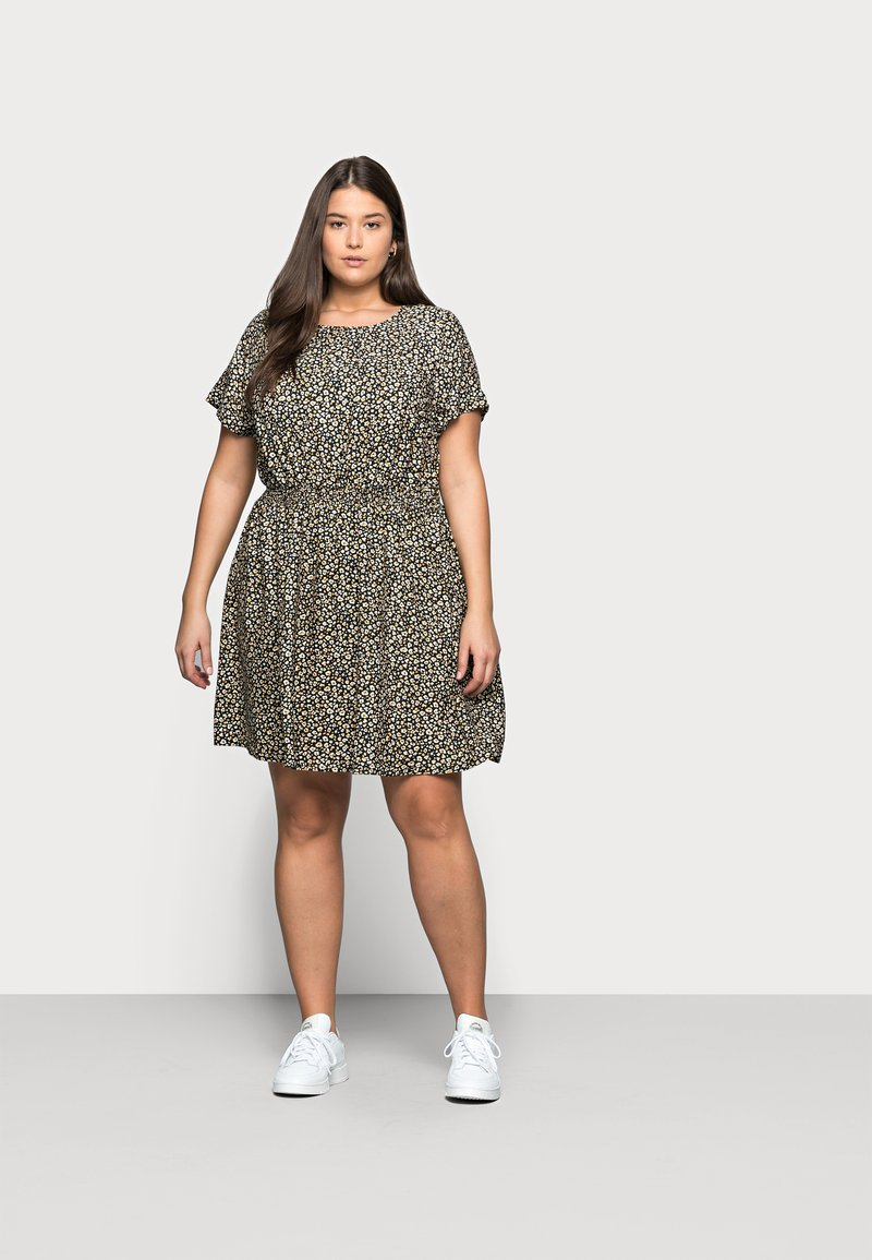 New Look Curves - FLO ANIMAL DRESS - Day dress - black
