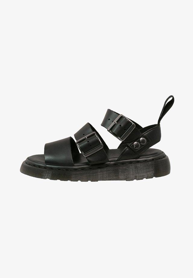 GRYPHON - Sandaalit nilkkaremmillä - black
