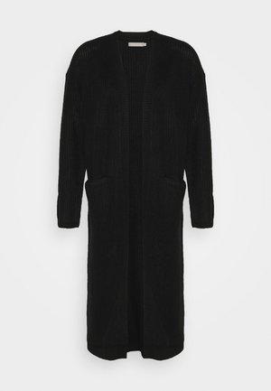PCSANDRA LONG COATIGAN - Vest - black