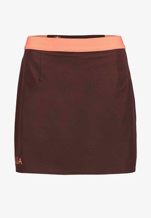 VAALA - Sports skirt - dunkelbraun