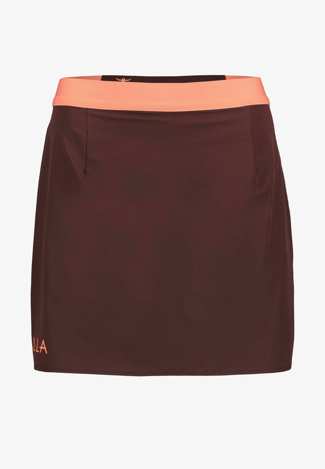 VAALA - Sports skirt - dunkelbraun