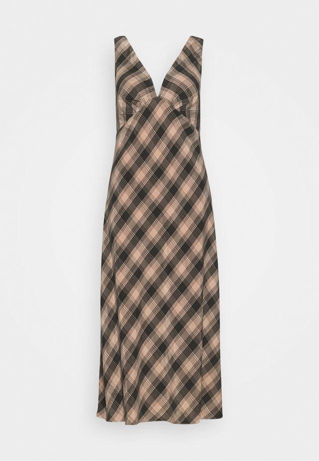 CHECKING OUT BIAS SLIP DRESS - Korte jurk - peach