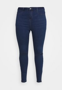 Missguided Plus - LAWLESS HIGHWAISTED SUPERSOFT ANKLE ZIP - Jeans Skinny Fit - deep blue - 3