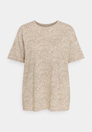 BOYFRIEND TEE MAR PATTERN XXL - Print T-shirt - camel