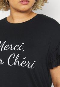 Simply Be - MERCI MON CHERI - Print T-shirt - black - 5