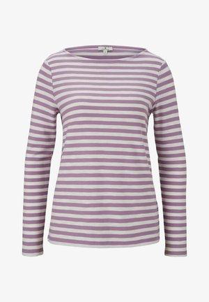 Långärmad tröja - lilac offwhite stripe