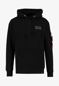 Alpha Industries - BACK PRINT HOODY - Felpa con cappuccio - black - 4