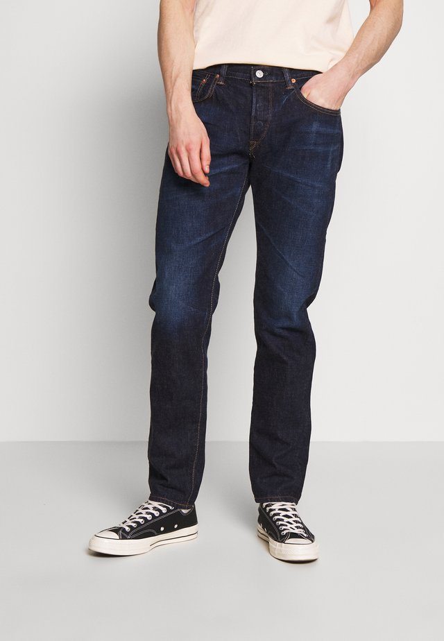 REGULAR TAPERED - Straight leg jeans - dark blue denim