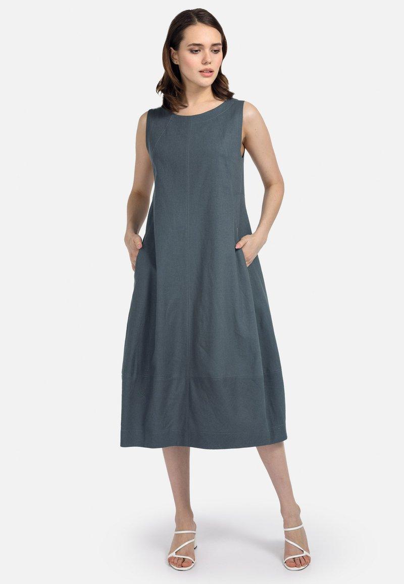 HELMIDGE - Day dress - dunkel grun