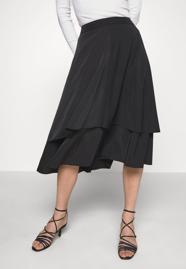 SKIRT MILA - Spódnica trapezowa - black