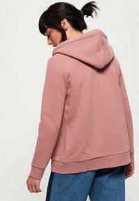 Superdry - ELITE ZIPHOOD - Zip-up hoodie - smoke rose - 2