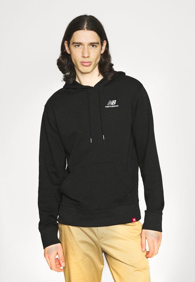 ESSENTIALS EMBROIDERED HOODIE - Sweatshirt - black