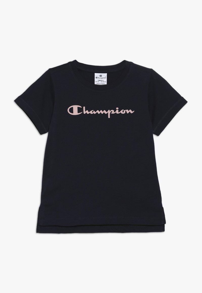 Champion - BASIC BLOCK CREWNECK  - T-shirt imprimé - dark blue