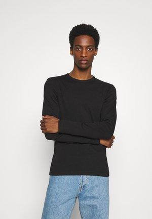 BASIC TEE O-NECK - Long sleeved top - black