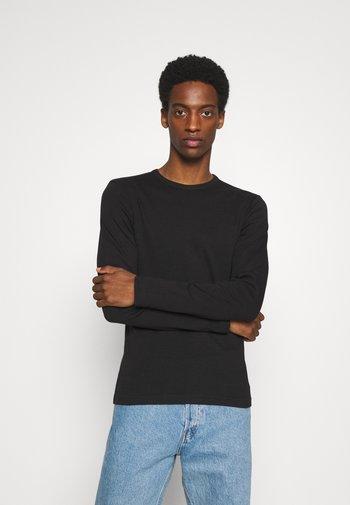 BASIC TEE O-NECK - Pitkähihainen paita - black