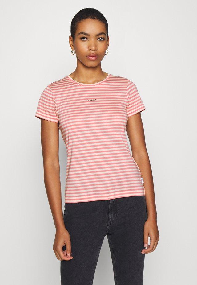 LOGO STRIPE  - T-shirts print - white smoke/pink