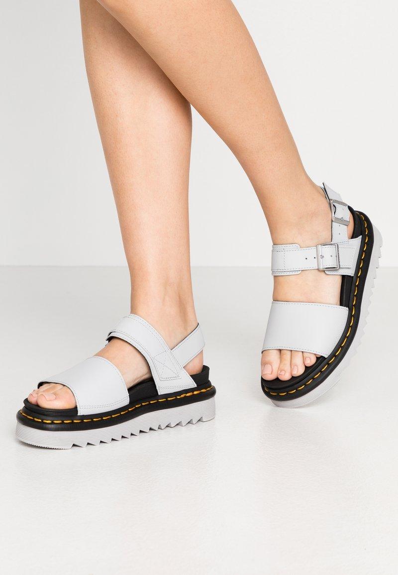 Dr. Martens - VOSS - Platform sandals - light grey hydro