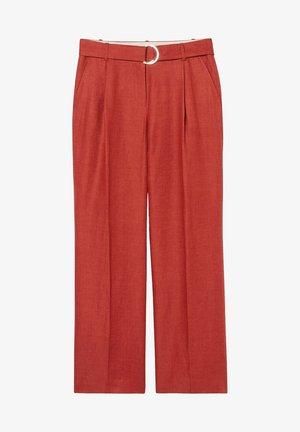 LEINEN - Trousers - dark red