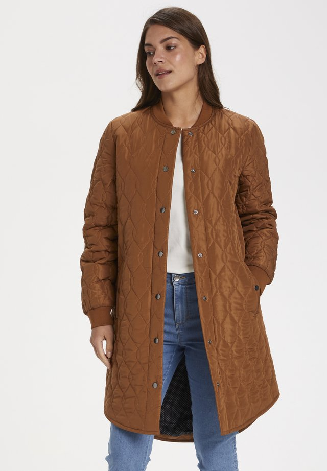 SHALLY QUILTED COAT - Vinterfrakker - brown