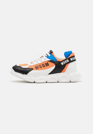 UNISEX - Trainers - white/black/orange
