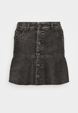 DE BETHY SKIRT - Gonna di jeans - washed black