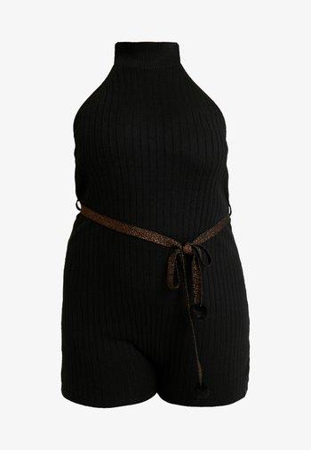 PLUS TURTLE NECK ROMPER - Pyjamas - black