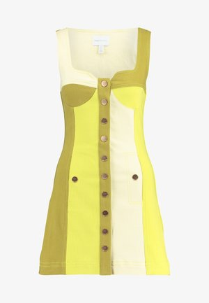 CHELSEA - Denim dress - chartreuse