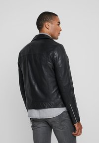 AllSaints - HALE BIKER - Veste en cuir - black - 2