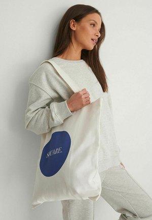 SQUARE - Tote bag - off white