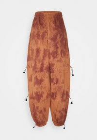 Missguided - TIE DYE DETAIL JOGGERS - Tracksuit bottoms - brown - 1