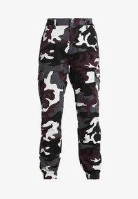 Urban Classics - LADIES HIGH WAIST CAMO CARGO PANTS - Trousers - wine - 3