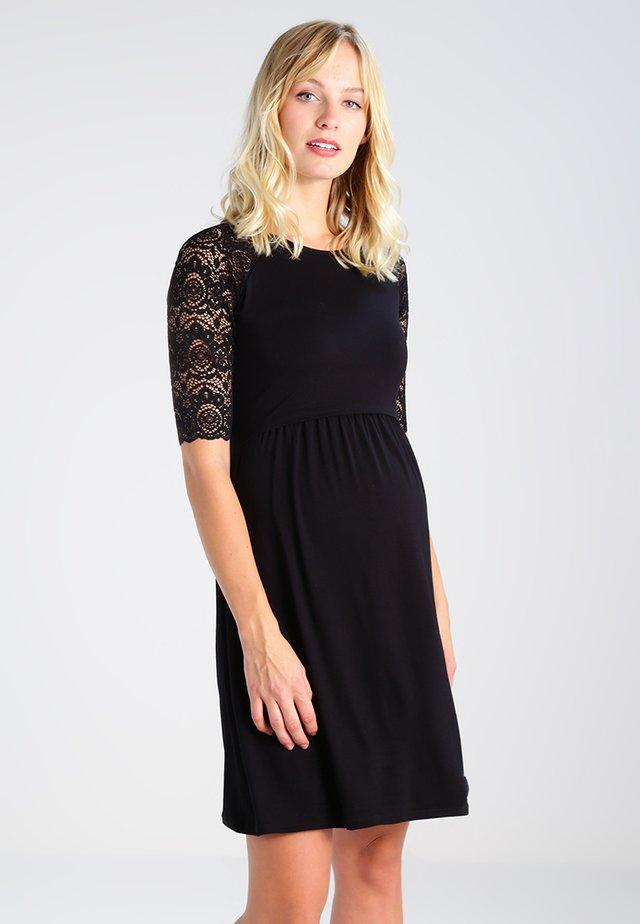 EDWINA - Jersey dress - black