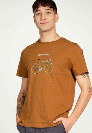 T-shirt print - cognac