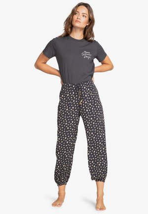 SWEET SURF - Trousers - off black