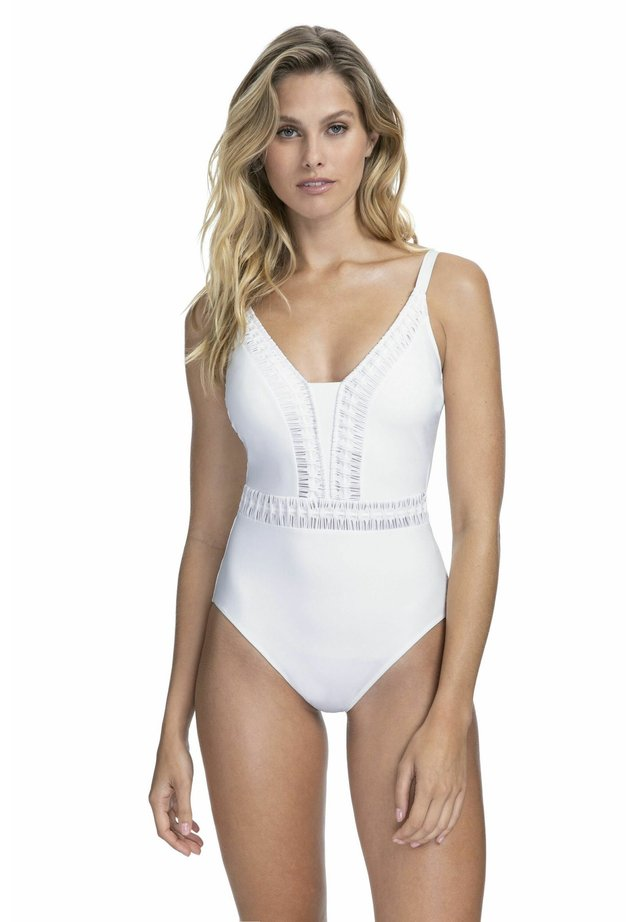 BADEANZUG - Swimsuit - white