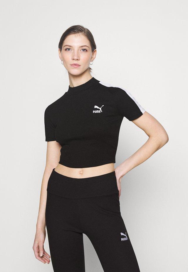 CLASSICS MOCK NECK - Jednoduché triko - black